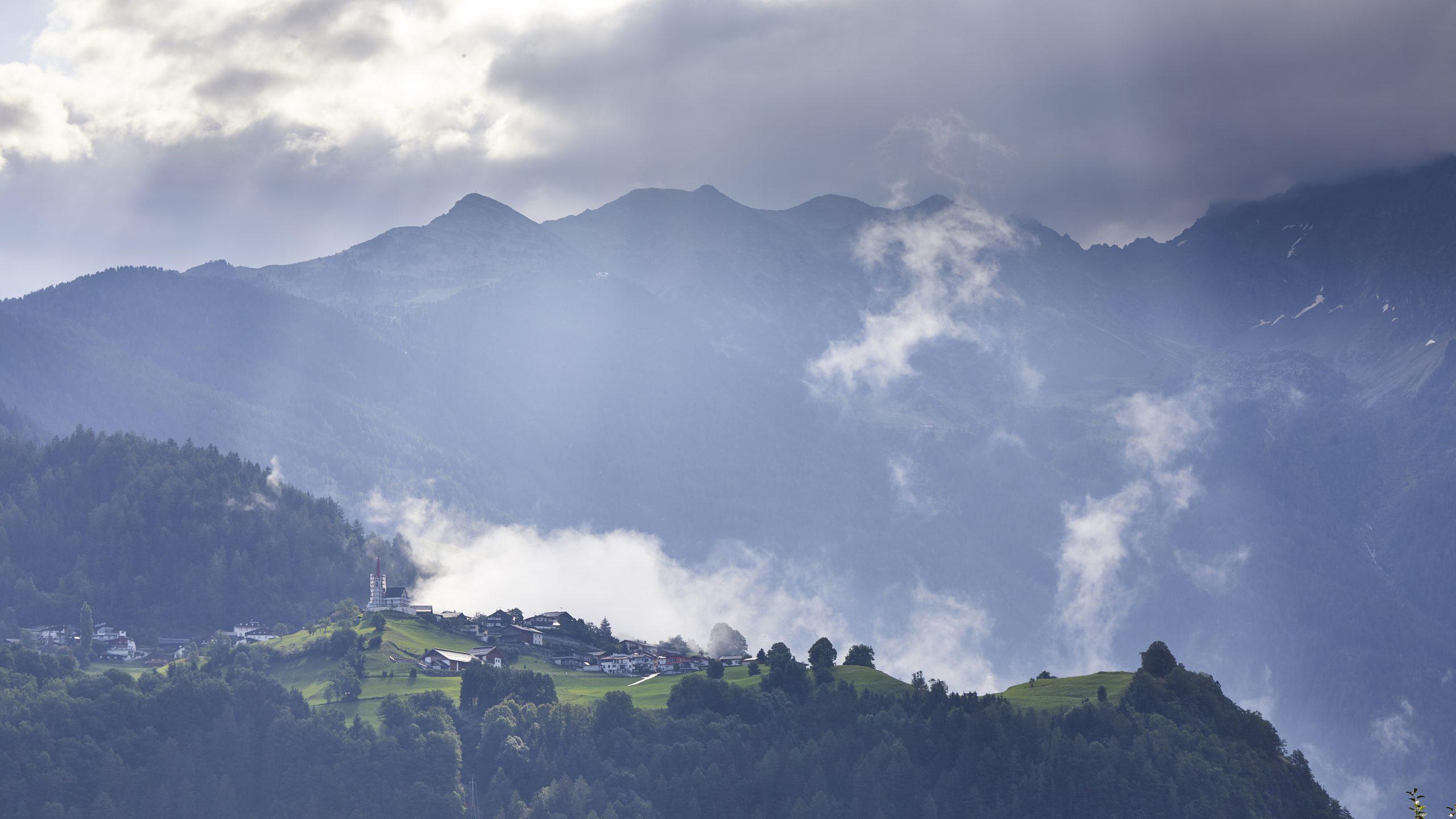 Tirol, Austria, Landscape, Sunlight, Wolken, Clouds, Alpen