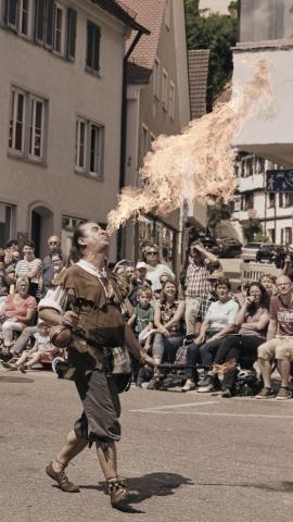 Street Scene, Feuerspucker, Schuetzenfest